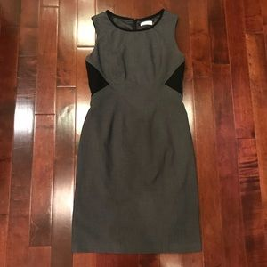 Calvin Klein Black Grey Work Sleeveless Dress